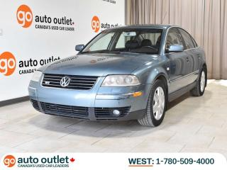 Used 2003 Volkswagen Passat W8 AWD Auto, Heated Leather Seats, Sunroof for sale in Edmonton, AB