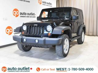 Used 2010 Jeep Wrangler Sport 4x4, 2 door, Manual, Low KM for sale in Edmonton, AB