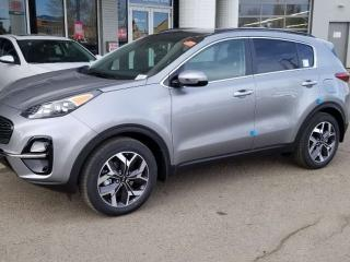 New 2020 Kia Sportage EX TECH AWD; ADVANCED SAFTEY, NAV, LEATHER, BLUETOOTH, BACKUP CAM, HEATED/COOLING SEATS AND MORE! for sale in Edmonton, AB