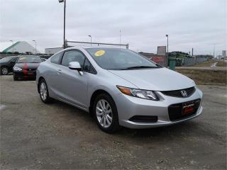 Used 2012 Honda Civic Cpe EX-L for sale in Oak Bluff, MB