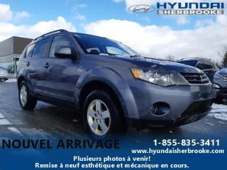 Used 2008 Mitsubishi Outlander LS+V6+AWD+7 PASS+A/C+BLUETOOTH+MAGS for sale in Sherbrooke, QC