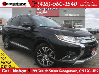 Used 2017 Mitsubishi Outlander ES LEATHER| ROOF| AWD| 360 CAM 1 OWNER for sale in Georgetown, ON