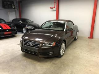 Used 2012 Audi A5 CABRIOLET, PREMIUM, AWD, INT., EN CUIR for sale in Montréal, QC