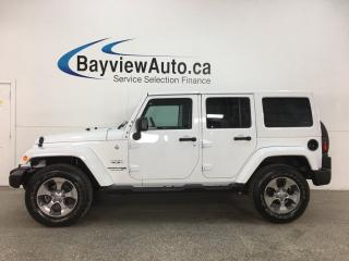 Used 2018 Jeep Wrangler JK Unlimited Sahara - AUTO! HARD TOP! NAV! REMOTE START! ALLOYS! for sale in Belleville, ON