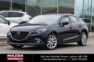Used 2015 Mazda MAZDA3 GT AUTO CUIR GPS 2 SET PNEU CUIR NAVIGATION BLUETOOTH CAMERA A/C for sale in Lachine, QC