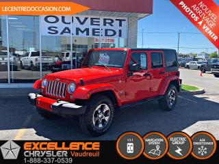 Used 2017 Jeep Wrangler Unlimited Sahara 4X4 for sale in Vaudreuil-Dorion, QC