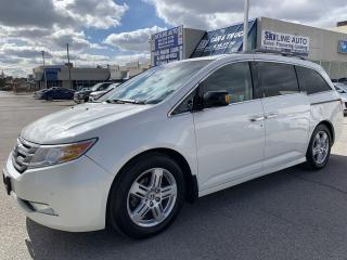 Used 2013 Honda Odyssey Touring DVD|POWER SLIDING|LEATHER|8 PASSG|SUNROOF for sale in Concord, ON