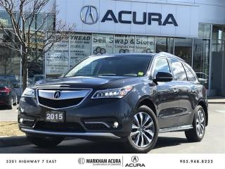 Used 2015 Acura MDX Tech at SH-AWD, Rear Entertainment Sys for sale in Markham, ON