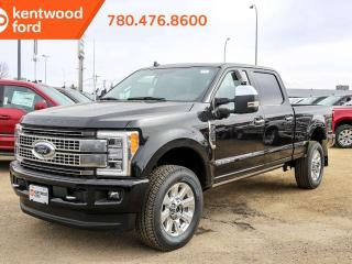 New 2019 Ford F-350 Super Duty SRW Platinum, LUXURY! Heated/Cooled Messaging Leather Seats, Twin Panel Moonroof, Voice Activasted Navigation, Power running boards for sale in Edmonton, AB