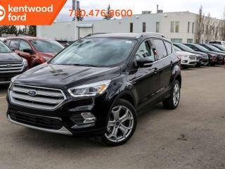 New 2019 Ford Escape Titanium, 4WD, 400a, Heated, Power Leather Seats, Text start remote, Navigation, Park Assist, 2.0L Ecoboost for sale in Edmonton, AB