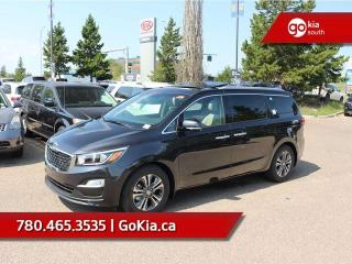 New 2019 Kia Sedona SX+; 8 PASS, LEATHER, SUNROOF, BACKUP CAMERA/SENSORS, POWER TAILGATE/SLIDING DOORS, SMART KEY, HEATED SEATS/WHEEL, BLUETOOTH, ANDROID AUTO/APPLE CAR PLAY, A/C for sale in Edmonton, AB