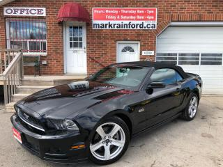 Used 2013 Ford Mustang GT 5.0 V8 Auto Convertible Leather Nav BT Rev Cam for sale in Bowmanville, ON