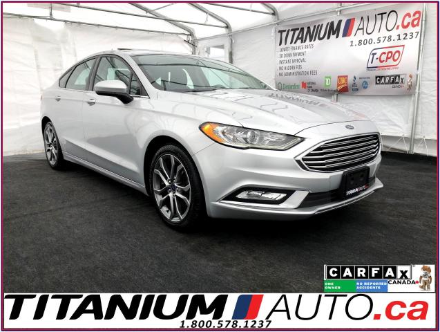 2017 Ford Fusion SE Sport-Camera-Sunroof-Leather-Push Button Start-