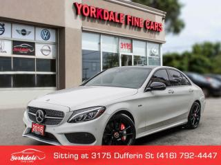Used 2016 Mercedes-Benz C-Class C450 AMG, Distronic+, HUD, Red Int for sale in Toronto, ON