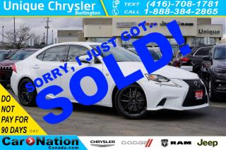 Used 2014 Lexus IS 350 F-SPORT| 306hp| 19in WHEELS| HID| SPORT+ MODE for sale in Burlington, ON