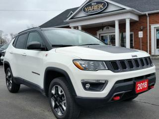 Used 2018 Jeep Compass Trailhawk 4x4, Pano Roof, NAV, Leather Heated Seats/Wheel, Remote Start, Pwr Gate, Bluetooth for sale in Paris, ON
