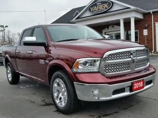 Used 2018 RAM 1500 Laramie 4x4, Leather Heated/Vented Seats, Sunroof, Apple Car Play, Bluetooth, Remote Start for sale in Paris, ON