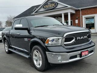 Used 2016 RAM 1500 Limited 4x4, Ecodiesel V6, RAMBOX, Leather Heated/Vented Seats, Sunroof, NAV, Back Up Cam/Sensors for sale in Paris, ON