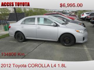 Used 2012 Toyota Corolla MANUEL for sale in Rouyn-Noranda, QC