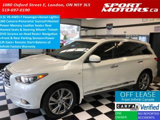 Used 2015 Infiniti QX60 AWD 3.5L V6+7 Passenger+DVD+GPS+Pano Roof for sale in London, ON
