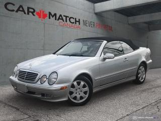 Used 2002 Mercedes-Benz CLK NO ACCIDENTS / NOT WINTER DRIVEN for sale in Cambridge, ON