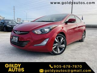 Used 2015 Hyundai Elantra Sunroof/Moonroof | Alloy Wheels | Leather Seats for sale in Mississauga, ON