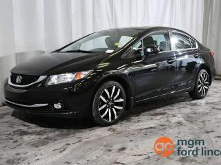 Used 2013 Honda Civic Sdn TOURING FWD | LEATHER | MOONROOF BACKUP CAMERA | NAVIGATION for sale in Red Deer, AB