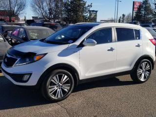 Used 2015 Kia Sportage EX; LOADED, NAV, BLUETOOTH, BACKUP CAM, SUNROOF AND MORE for sale in Edmonton, AB