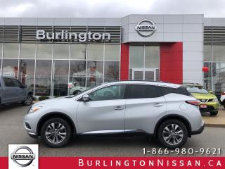 Used 2016 Nissan Murano SV, FWD, ACCIDENT FREE, 1 OWNER ! for sale in Burlington, ON
