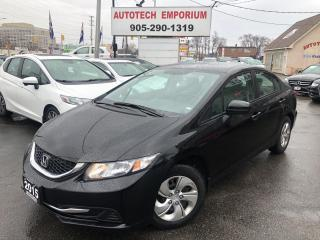 Used 2015 Honda Civic LX Auto Camera/Heated Seats&GPS* for sale in Mississauga, ON