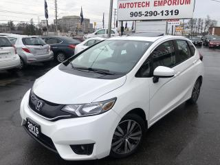 Used 2015 Honda Fit Prl White EX Sunroof/Htd Sts/Cam/Alloys&ABS* for sale in Mississauga, ON
