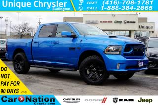 Used 2018 RAM 1500 HYDRO BLUE SPORT| A/T TIRES| NAV| SUNROOF & MORE! for sale in Burlington, ON