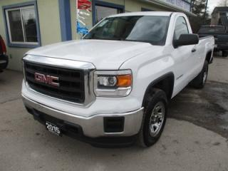 Used 2015 GMC Sierra 1500 WORK READY SL MODEL 3 PASSENGER 5.3L - V8.. 4X4.. REGULAR CAB.. 8-FOOT BOX.. AUX/USB INPUT.. TOW SUPPORT.. for sale in Bradford, ON