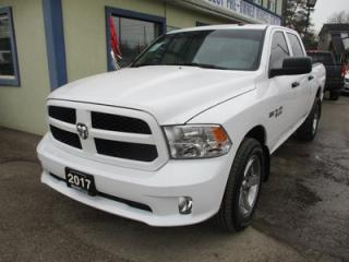 Used 2017 Dodge Ram 1500 WORK READY SLT MODEL 6 PASSENGER 5.7L - V8.. 4X4.. CREW.. SHORTY.. AUX/USB INPUT.. BLUETOOTH SYSTEM.. TRAILER BRAKE.. for sale in Bradford, ON