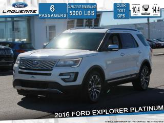 Used 2016 Ford Explorer Platinum Awd 6 for sale in Victoriaville, QC