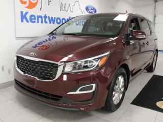 Used 2019 Kia Sedona LX FWD with power heated seats, heated steering wheel, eco option and a back up cam for sale in Edmonton, AB