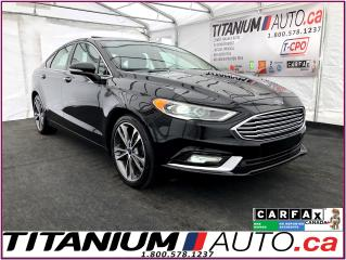 Used 2018 Ford Fusion Titanium-AWD-Camera-Sunroof-Cooled Leather Seats- for sale in London, ON