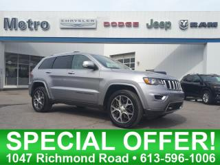 Used 2018 Jeep Grand Cherokee Sterling Edition - Mint & Fully Loaded V6 for sale in Ottawa, ON