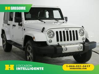 Used 2018 Jeep Wrangler SAHARA JK UNLTD AC for sale in St-Léonard, QC