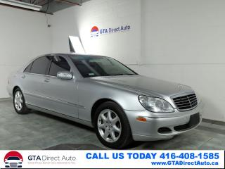 Used 2004 Mercedes-Benz S-Class S550 4Matic Nav Sunroof Leather XenonPDC Certified for sale in Toronto, ON