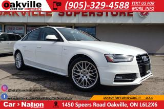 Used 2016 Audi A4 2.0T KOMFORT | S-LINE | HTD SEATS | SUNROOF for sale in Oakville, ON