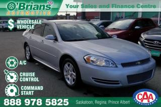 Used 2013 Chevrolet Impala LT - Wholesale Inventory w/Command Start for sale in Saskatoon, SK