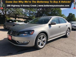 Used 2014 Volkswagen Passat Comfortline, DIESEL, LEATHER, LOADED for sale in Stoney Creek, ON
