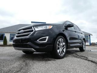 Used 2016 Ford Edge Titanium- BROWN LEATHER- LOADED- AWD- SUNROOF for sale in Essex, ON