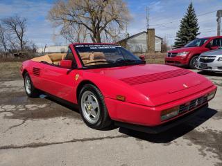 Used 1989 Ferrari MONDIAL T CABRIOLET RARE T MODEL MONDIAL!! CERTIFIED!! for sale in Bolton, ON