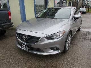 Used 2015 Mazda MAZDA6 LOADED TOURING EDITION 5 PASSENGER 2.5L - DOHC.. LEATHER.. HEATED SEATS.. NAVIGATION.. POWER SUNROOF.. BACK-UP CAMERA.. BLUETOOTH SYSTEM.. for sale in Bradford, ON