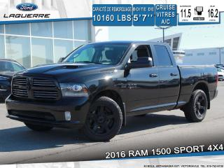 Used 2016 RAM 1500 Sport 4x4 Bluetooth for sale in Victoriaville, QC