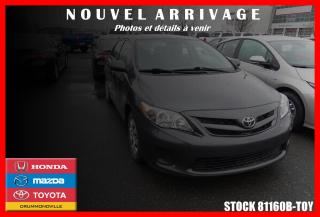 Used 2012 Toyota Corolla CE M5 for sale in Drummondville, QC