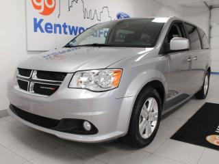 Used 2018 Dodge Grand Caravan CREW FWD, heated power leather seats, power liftgate, power sliding doors for sale in Edmonton, AB