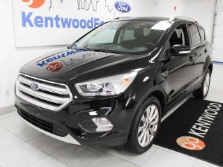 Used 2018 Ford Escape TITANUM, Power Liftgate, Power Heated Seats, Heated Steering Wheel, Push Start/Stop, Backup Camera, and NAV for sale in Edmonton, AB